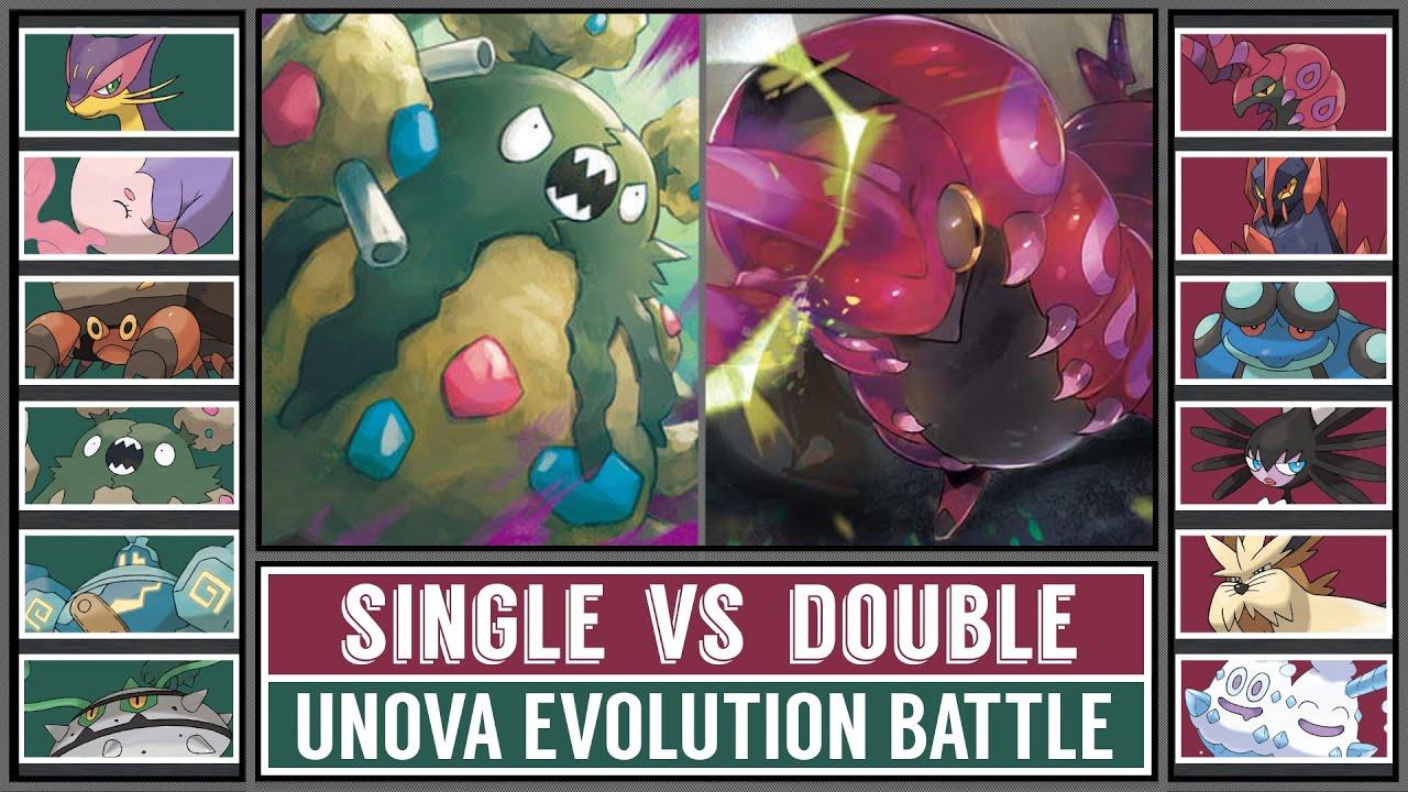 Unova Pokémon Battle   SINGLE EVOLUTIONS vs DOUBLE EVOLUTIONS