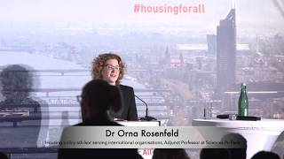 Housing for All - Expert input - Dr Orna Rosenfeld, Faculty for Urban Sciences, Sciences Po, Paris