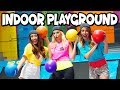 Indoor Playground Challenge: Fun Rock Wall, Giant Slide and Obstacle Course . Totally TV