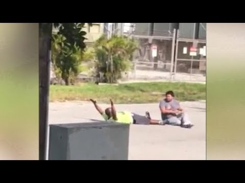 Unarmed Florida man shot by police tells his story