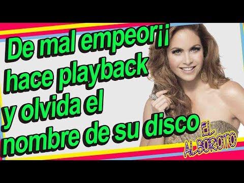 Sin verguenza, Lucero hace evidente playback en hoy y se le olvida su disco