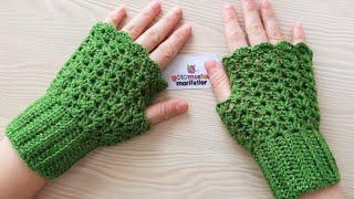 Crochet Gloves How To  - Crochet Fingerless Mitten Gloves