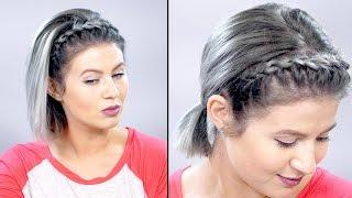 lace braid headband on short hair   milabu
