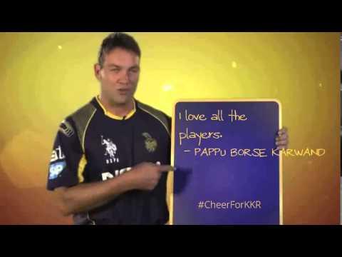 PAPPU BORSE KARWAND's #CheerForKKR One Team. One Pledge.