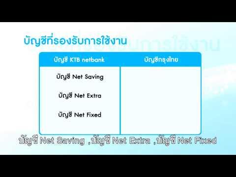 การใช้งาน KTB netbank : บัญชี KTB netbank