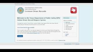 Texas.gov Driver Record Demo Video thumbnail