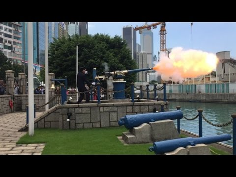 Hong Kong: Firing of the Noon Day Gun