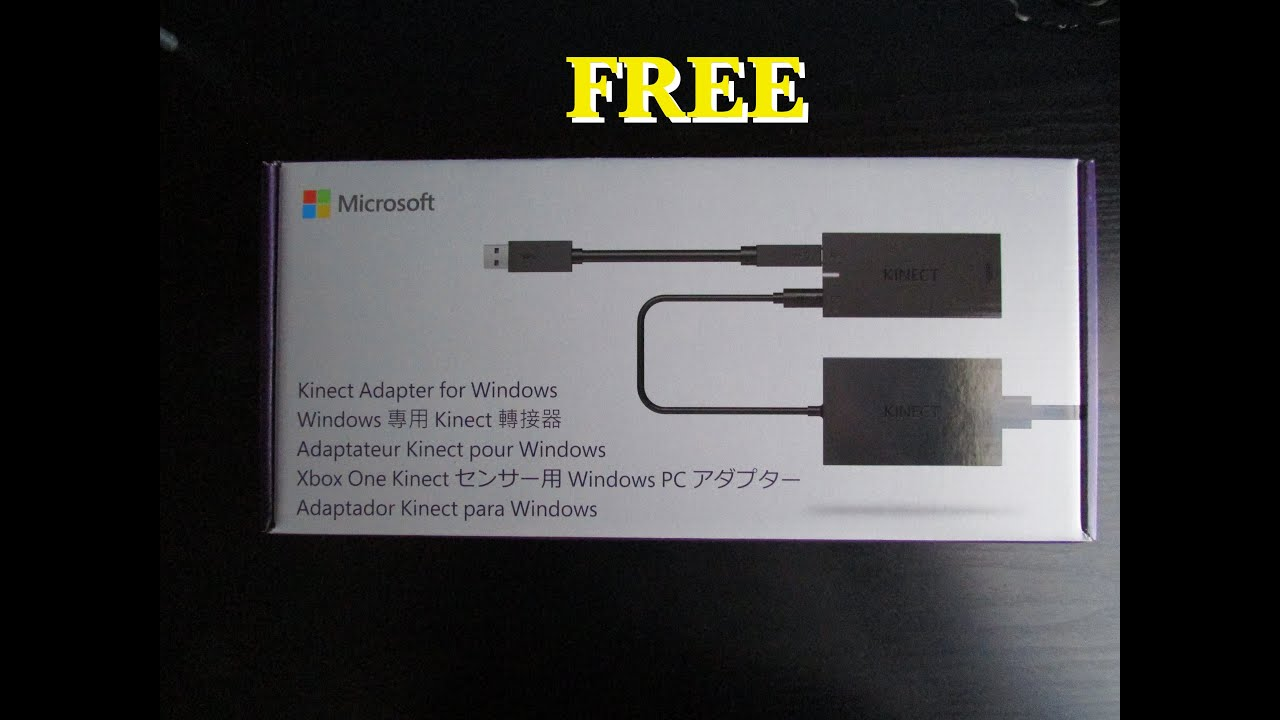 free microsoft kinect adapter for xbox one s unboxing and. Black Bedroom Furniture Sets. Home Design Ideas