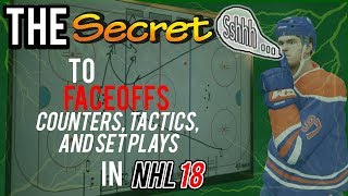 The Secret to Winning Faceoffs in NHL 18 (Faceoff Counters, Tactics and Set Plays)