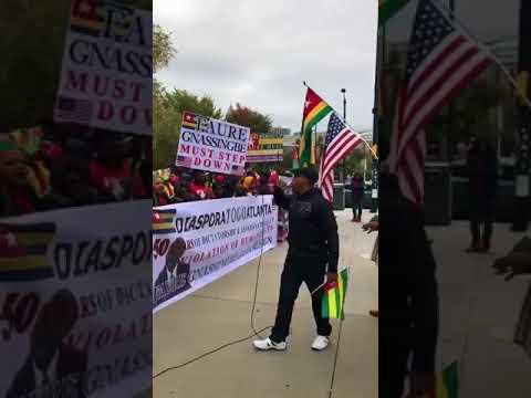 TOGO: Atlanta, USA devant les locaux de CNN La diaspora debout contre le règne cinquantenaire