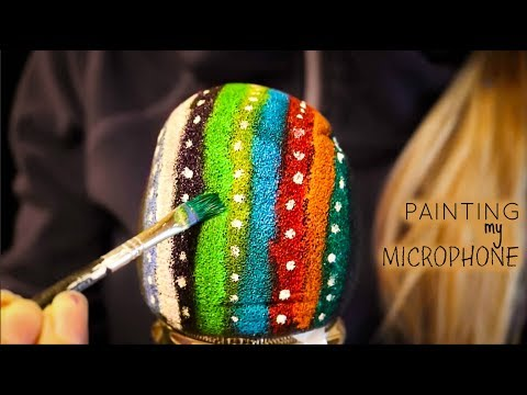 PAINTING MY MICROPHONE for ASMR