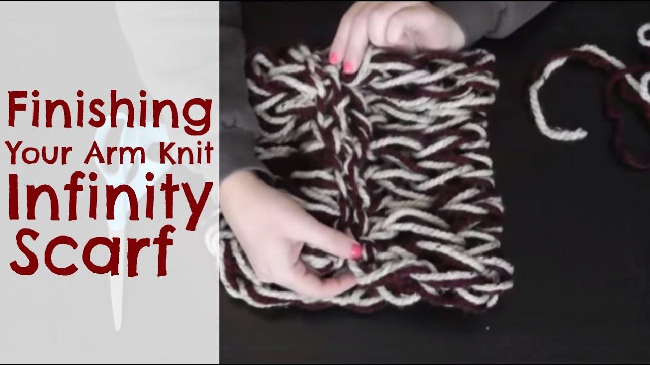 Diy arm knitting finishing your infinity scarf youtube bankloansurffo Choice Image