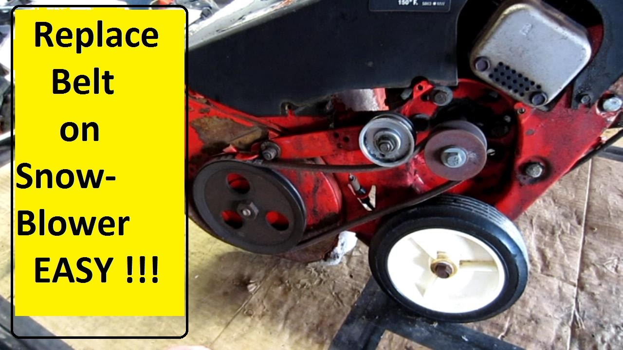 snowblower belt repair easy !! youtube Ariens ST824 Snowblower Parts Diagram snowblower belt repair easy !!