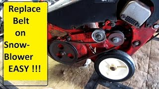 Snowblower belt repair   EASY !!