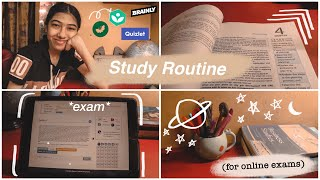 🌱🌻 Indian Study Routine for Online Exams 2020 (how to score better, apps, essentials, tips, hacks)