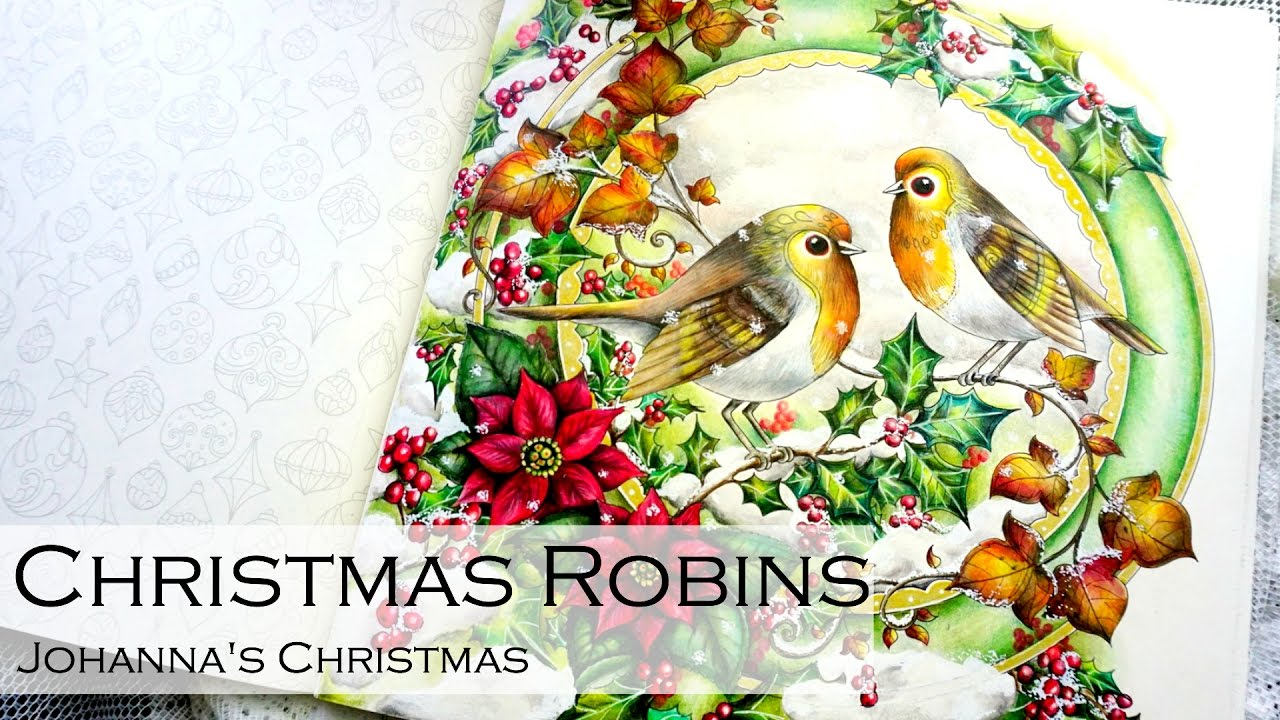 christmas robins adult coloring book johannas christmas by johanna basford youtube