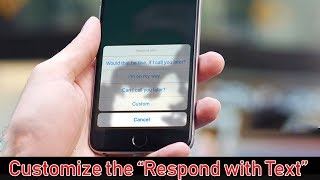 How to Make a Custom Text Response To Calls on iPhone