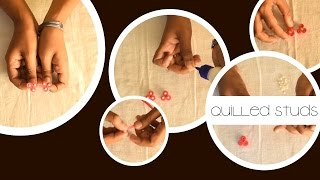 DIY : Quilled Studs | Quilling Designs | Quilling Tutorial