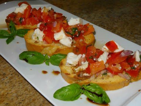 Tomato, Basil and Fresh Mozzarella Bruschetta