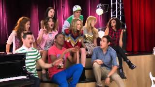 """Violetta 2nd season episode 11 """"surprise guest""""bridgit mendler appeared in studio as a surprise guest and sing song """"hurricane"""""""