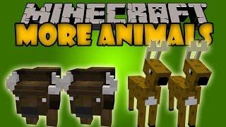 MORE ANIMALS MOD - Venados y Bisontes - Minecraft mods 1.8 Review ESPAÑOL