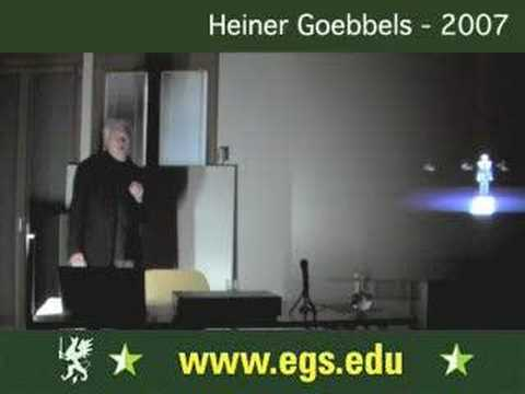 Heiner Goebbels. Composing and Directing for Theatre 2007 3/9