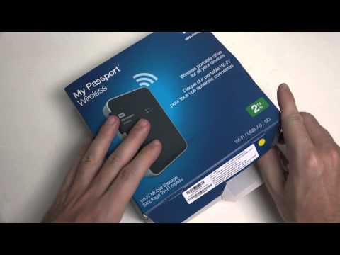 WD My Passport Wireless WiFi Mobile Storage Unboxing