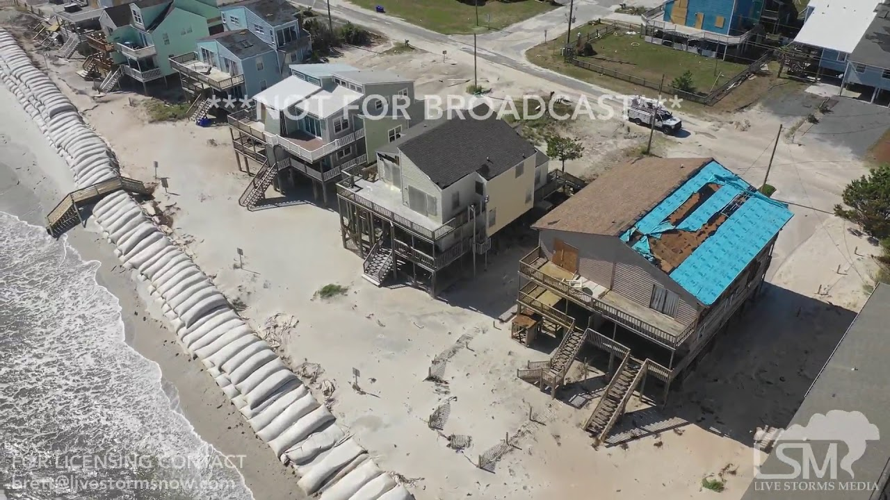 9-18-2018 North Topsail Beach, NC Drone Video Homes