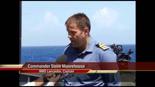 One Caribbean Report Media visits HMS Lancaster UK Warship July 3 2013