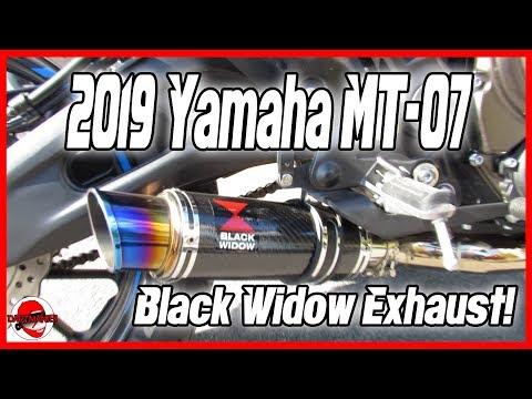 2019 Yamaha MT-07 Black Widow Exhaust Review With BikerXJoe