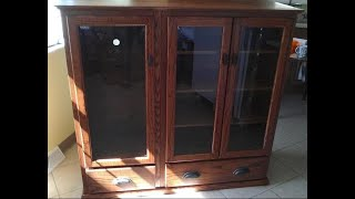 How I Built A Custom Oak Curio Cabinet