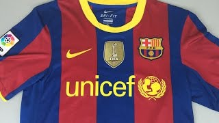 This is a retro review of barcelona home jersey for season 2010-2011 when they won double, la liga and champions league. classic football jerseys: https://ww...