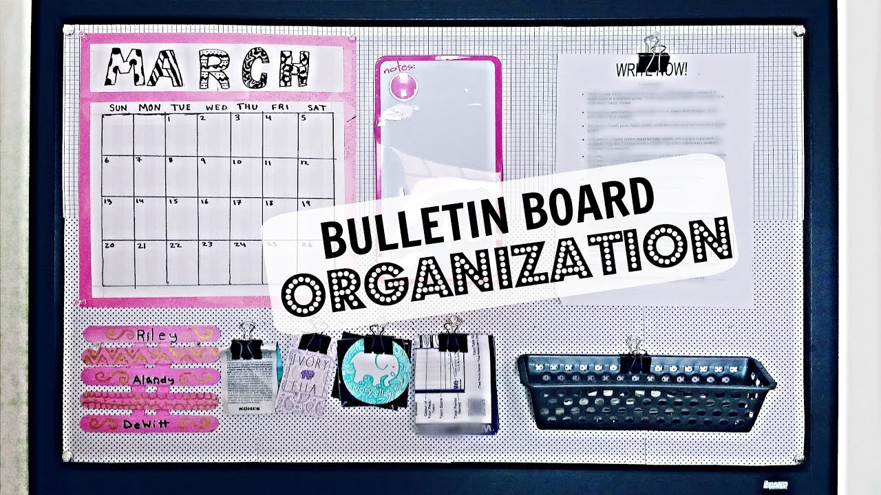 Bulletin board organization and diy decor riley meow for Bulletin board organization