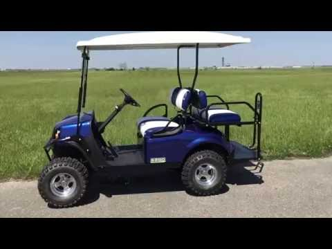2016 E-Z-GO EXPRESS S4 GAS Golf Car Electric Blue Located In Vandalia, Ohio.
