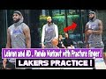 Lakers Practice   Lebron and AD who wins 3 point contest ? Rondo Practices with fractured Finger !!