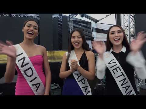 Miss India, Miss Japan and Miss Vietnam Interview