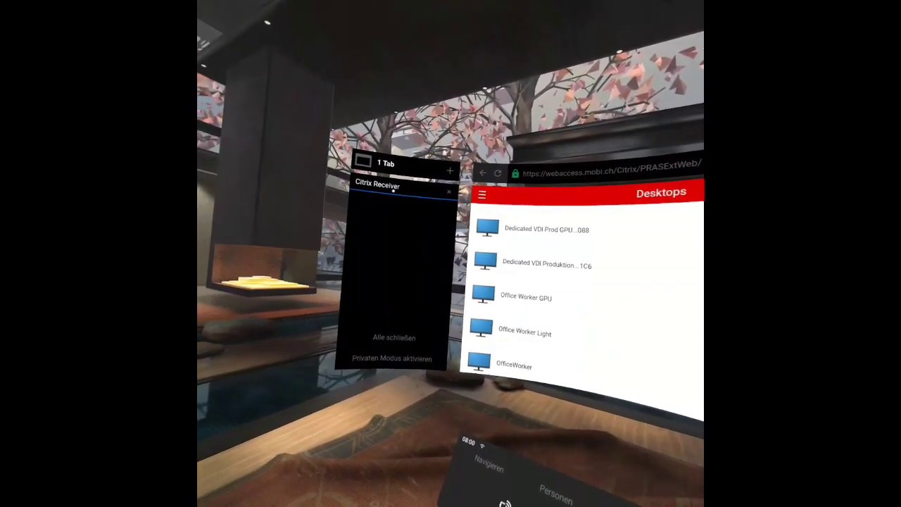Virtual virtual Workplace – or my first VR experience with Citrix