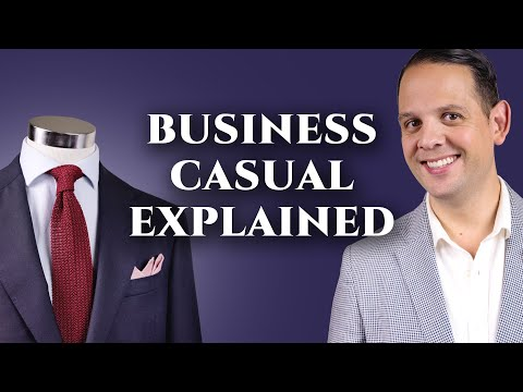 Business Casual Attire For Men & Dress Code Explained with Lookbook Outfits