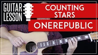 Counting Stars Guitar Tutorial - OneRepublic Guitar Lesson 🎸 |Easy Chords + No Capo + Guitar Cover|