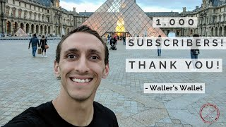 Whoa, I Hit 1,000 Subscribers! Thank You! | Waller
