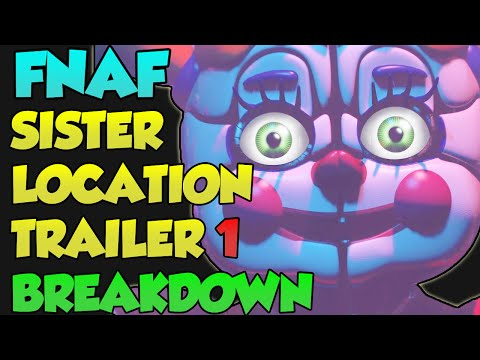 FNAF Sister Location Trailer Breakdown, Analysis, Theories ~ Five Nights at Freddy's