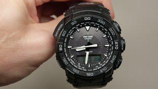 Casio Pro Trek Tough Solar Triple Sensor Chronograph Men's Watch Review Model: PRG550-1A1
