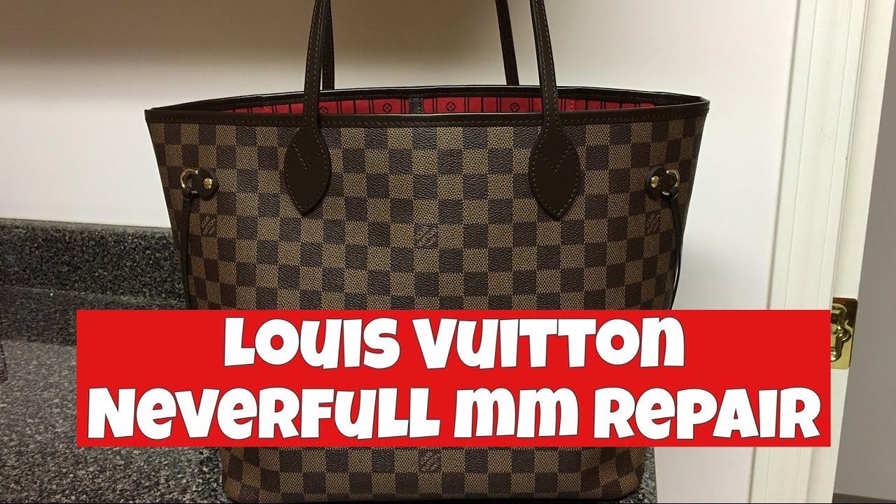 Louis Vuitton Neverfull MM repair (5 years) - YouTube 33f4537f19