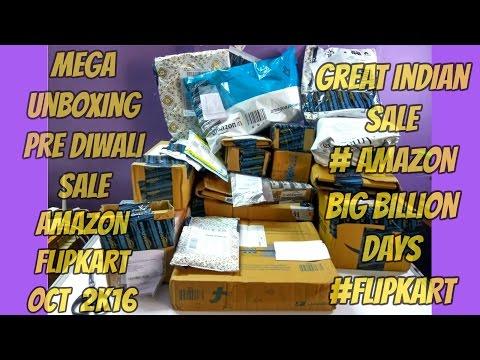 Mega Unboxing #Amazon#Flipkart#HP | Pre Diwali Sale 2k16