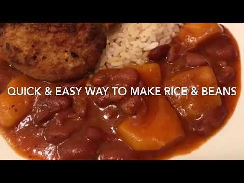 HOW TO MAKE PUERTO RICAN RICE & RED BEANS (EASY STEP-BY-STEP RECIPE)
