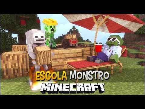 Minecraft Escola Monstro #11 - Casa dos Monstros !!  Monster School