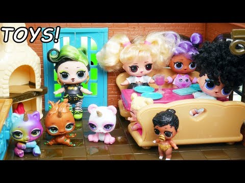 lol-surprise-fake-restuarant-vs-real-dolls-#hairgoals-series-5-barbie-pearl-pool-party