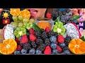 EATING FRESH FRUIT PLATTER MAKAN BUAH SEGAR ताजे फल खाएं ASMR Eating Sounds