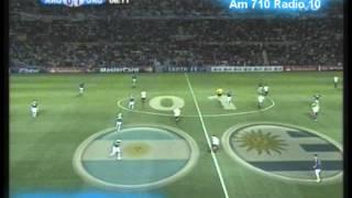 Argentina 1 Uruguay 1 (Relato Alejandro Fantino)  Copa America 2011 Los goles