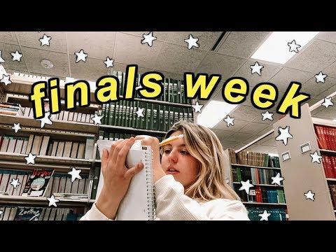 college week in my life: finals week